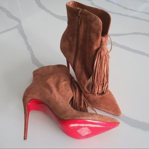 Louboutin Tassel Ankle Boots